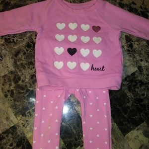 Two piece heart set